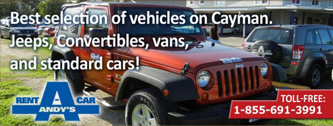 Rent Jeeps, Convertibles, vans and standard cars in Cayman